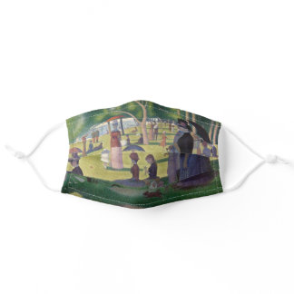 Sunday Afternoon Seurat Neo Impressionist Painting Adult Cloth Face Mask