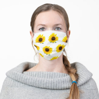 Sunflower Print Face Mask