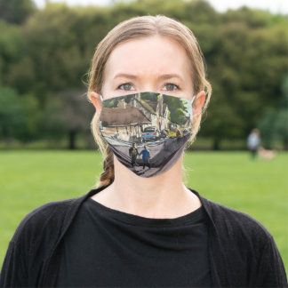 Sunny Day in Bruges Impressionistic Oil Painting Adult Cloth Face Mask