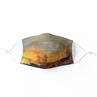 Sunset in the Rockies Bierstadt Painting Adult Cloth Face Mask