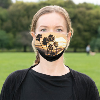 Sunset Silhouette In San Diego Adult Cloth Face Mask