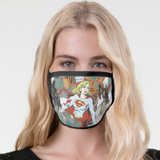 Supergirl Comic Capers Pattern 8 Face Mask