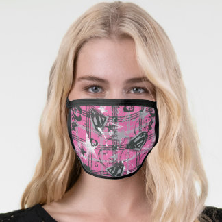 Supergirl Stars and Skulls Pattern Face Mask