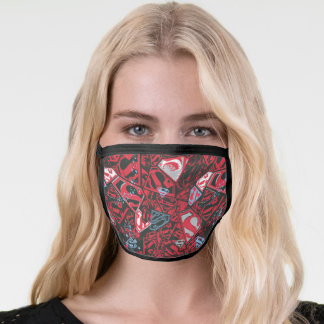 Supergirl Stary Red Pattern Face Mask