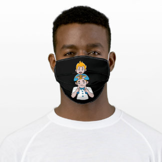 Superhero Father and Son Super Dad Best Father Adult Cloth Face Mask