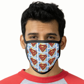 Superman Red and Blue Pattern Face Mask
