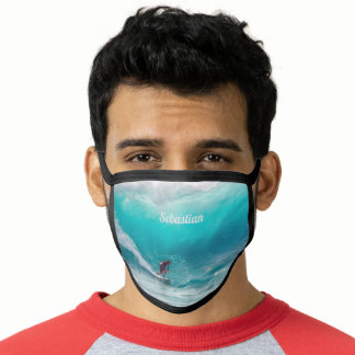 Surfer Personalised with your name Face Mask