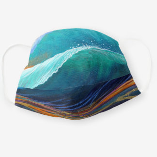 Surfers View of the Barrel Cloth Face Mask