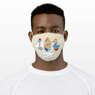Surf's Up! Surfboards Adult Cloth Face Mask