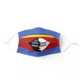 Swazi flag adult cloth face mask