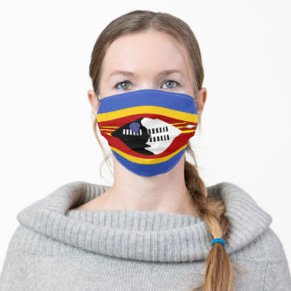 Swaziland South Africa country flag symbol nation Adult Cloth Face Mask