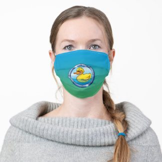 Sweet bathing duckling. adult cloth face mask