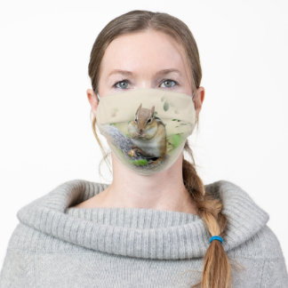 Sweet Chipmunk Adult Cloth Face Mask