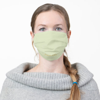 Sweet Simple Mint Green Solid Color Personalized Adult Cloth Face Mask