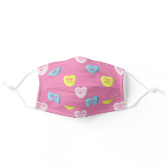 Sweethearts Cutie Candy Adult Cloth Face Mask