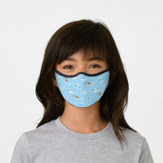 Swimming Swimmers Pattern Premium Face Mask