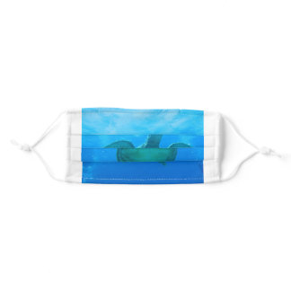Swimming with Sea Turtles Face Mask