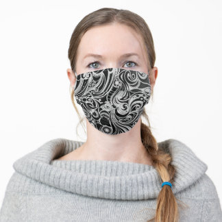 Swirling abstract adult cloth face mask