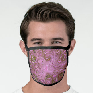 SWIRLS OF PINKS, MAUVES, BROWNS AND GREENS/PAISLEY FACE MASK