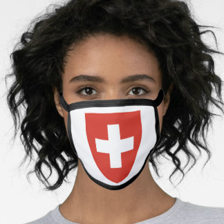 Swiss coat of arms face mask