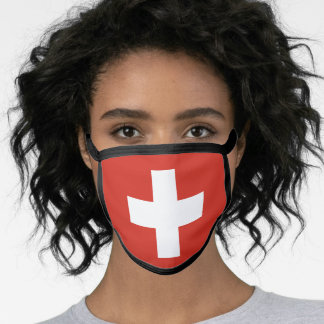 Swiss flag face mask