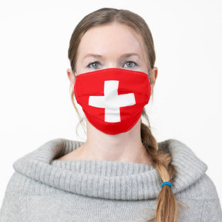 Switzerland flag adult cloth face mask