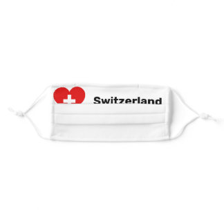 Switzerland Schweiz Suisse Svizzera Heart C Swiss Adult Cloth Face Mask