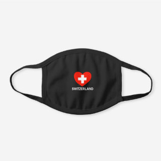 Switzerland Swiss Gift Shirt Black Cotton Face Mask