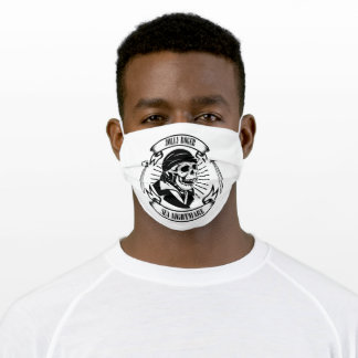 swords and pirate skull adult cloth face mask
