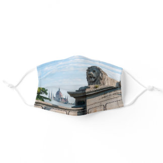 Szechenyi Chain Bridge and Parliament of Budapest Adult Cloth Face Mask