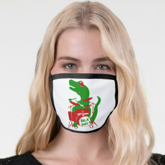 T-Rex Drums Face Mask