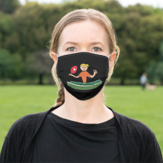 Table Tennis Adult Cloth Face Mask