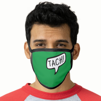 TACH! German Greeting, Hello Speech Bubble Face Mask