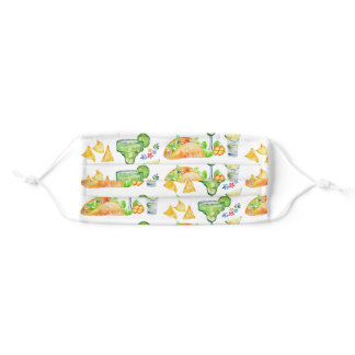 Tacos and Tequila Pattern Personalized Adult Cloth Face Mask