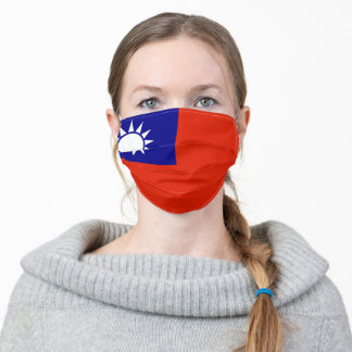 taiwan flag ethnic symbol adult cloth face mask