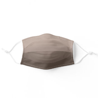 Tan Brown Monotone Ombre Adult Cloth Face Mask