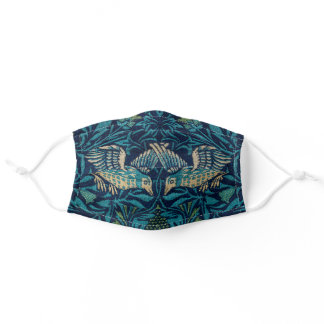 Tapestry Embroidered Medieval Birds by Morris Adult Cloth Face Mask