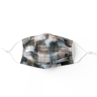 Taupe Slate Brushstrokes Abstract Adult Cloth Face Mask