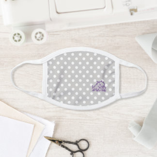 TCU Horned Frogs Polka Dots Face Mask