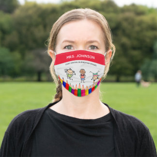 Teacher and Kids Adult Cloth Face Mask