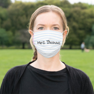 Teacher Face Mask - Reusable - Personalized Name