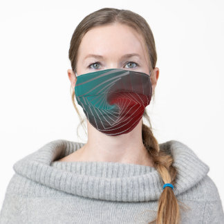 teal burgundy spin adult cloth face mask