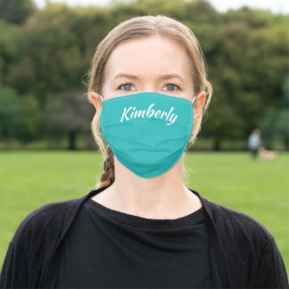 Teal Personalized Name Cloth Face Mask