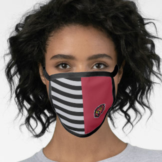 Temple Owls Color Block and Stripes Face Mask