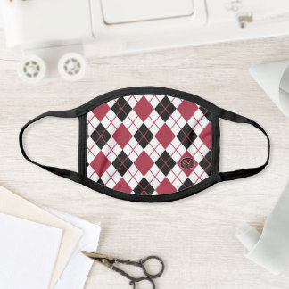 Temple University Argyle Pattern Face Mask