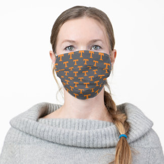 Tennessee Power T | Gray Pattern Adult Cloth Face Mask