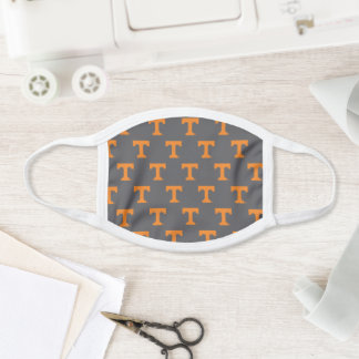 Tennessee Power T | Gray Pattern Face Mask