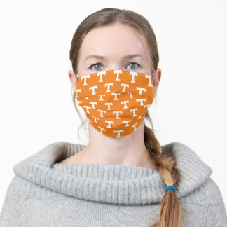 Tennessee Power T | Orange Pattern Adult Cloth Face Mask