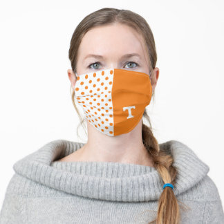 Tennessee Power T | Poka dots Adult Cloth Face Mask