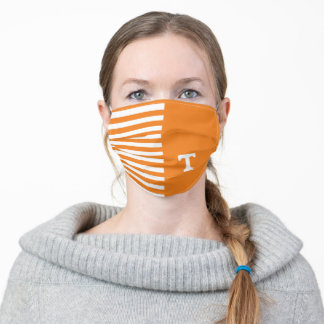 Tennessee Power T | Stripes Adult Cloth Face Mask